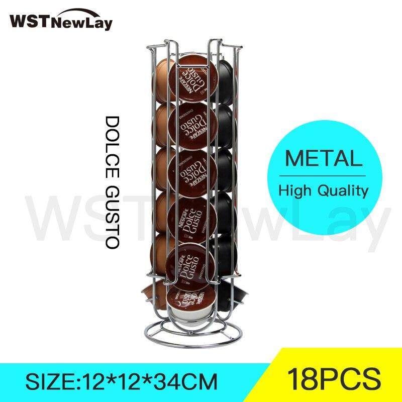 Storage-Dolce-Gusto-18-Coffee-Capsules-Pod-Holder-Stand-Kitchen-Organizer-Metal-Shelf-Dispaly-Rack-Free