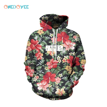 Onedoyee Men Women Skateboard Hoodies 3D Printing Flower Floral Hooded Sweater Couple Clothes Baseball Uniform Sport Sweatshirts