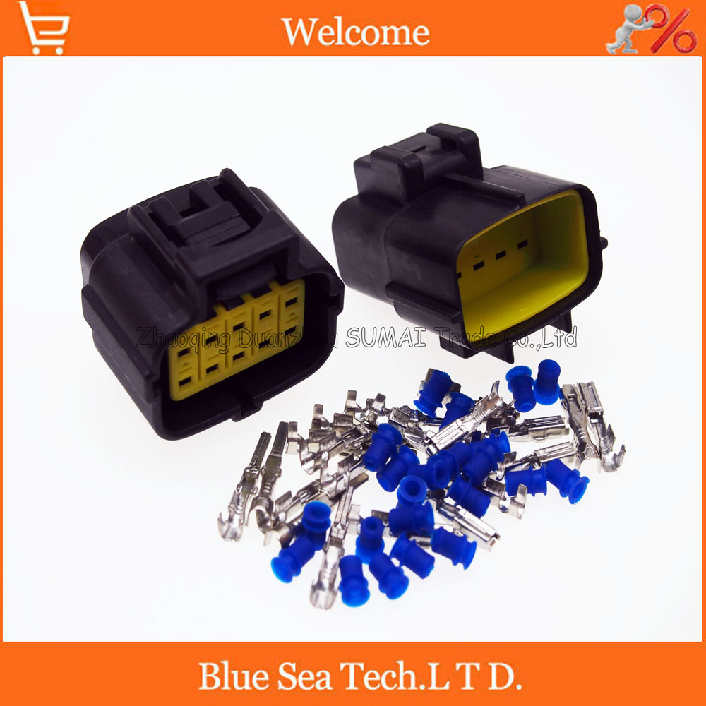 10 Pin 18mm Male And Female Waterproof Electrical Plug Connector Electric Fence Wire Joiner 25pcs For Vwaudietc