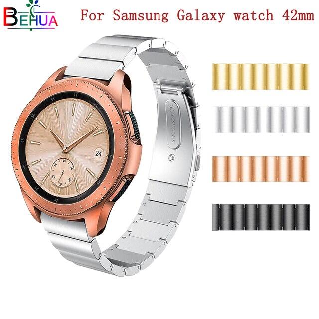 Edelstahl Ersatz Uhr Band für Samsung Galaxy Uhr 42mm SM-R810 Smart Uhr Band Strap 316 stahl Armband armband