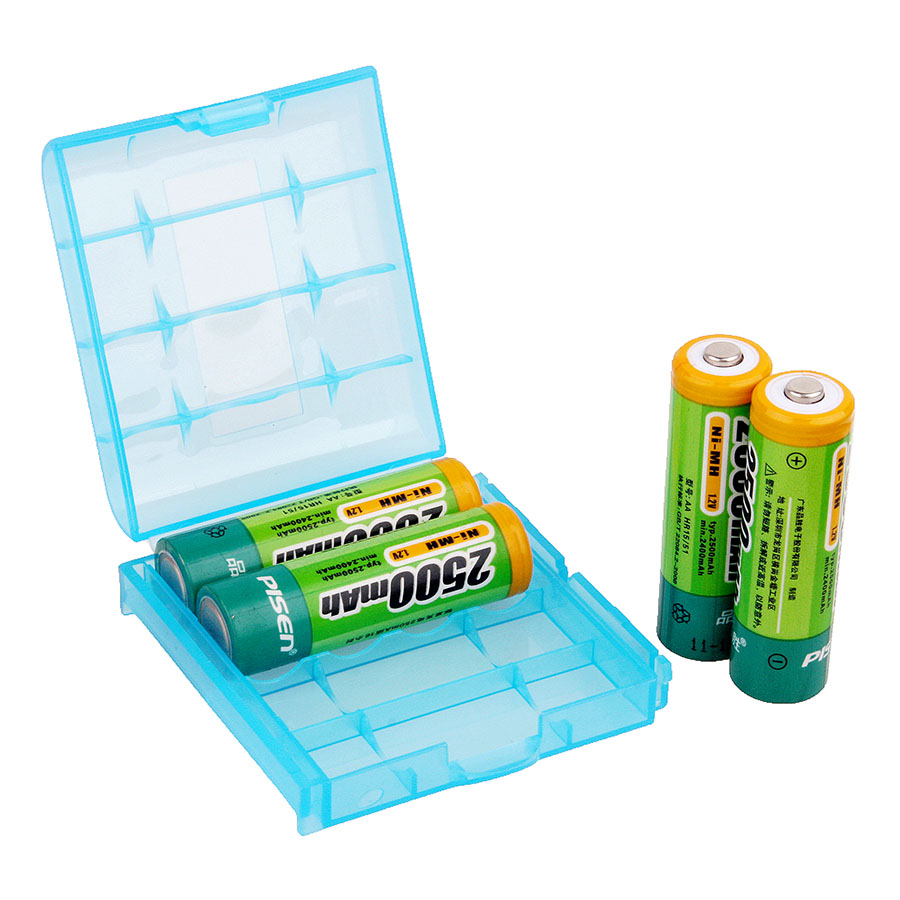 Accumulator Battery Storage Box Hard Plastic Case for Canon Nikon Yougnuo YN560 600EX 580EX SB900 Flash Light AA AAA Battery