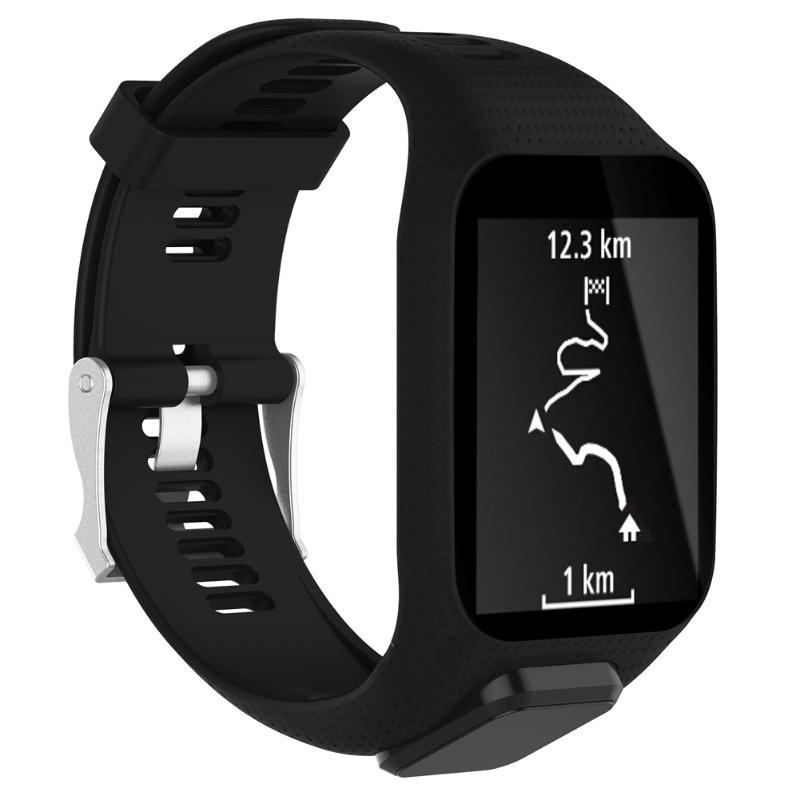 Silicone Watchband Frame Replacement Smart Watch Strap for TomTom Adventurer/Runner 2/Golfer 2/Spark/Spark 3