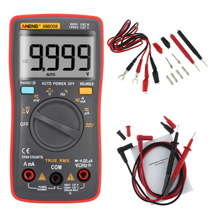 ANENG Digital Multimeter AN8008 True-RMS 9999 counts Square Wave Backlight AC DC Voltage Ammeter Current Ohm Auto/Manual(China)