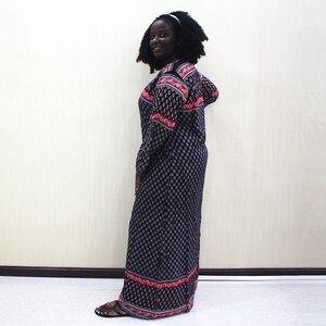Image 5 - Vestido de Moda Africana Dashiki 2019, vestido largo informal de algodón con estampado de apliques para mujer