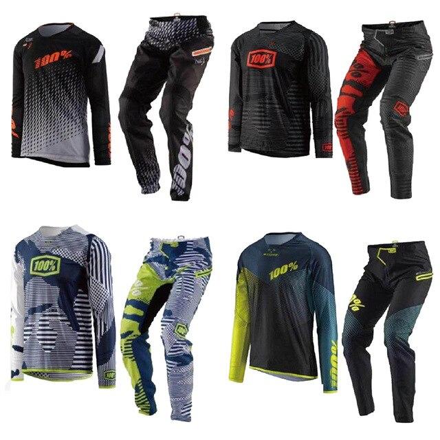 2019 offres spéciales de Vitesse de Course de Motocross de Combo Hommes Racing Dirt Bike Off Road VTT Pantalon et Jersey costume de course