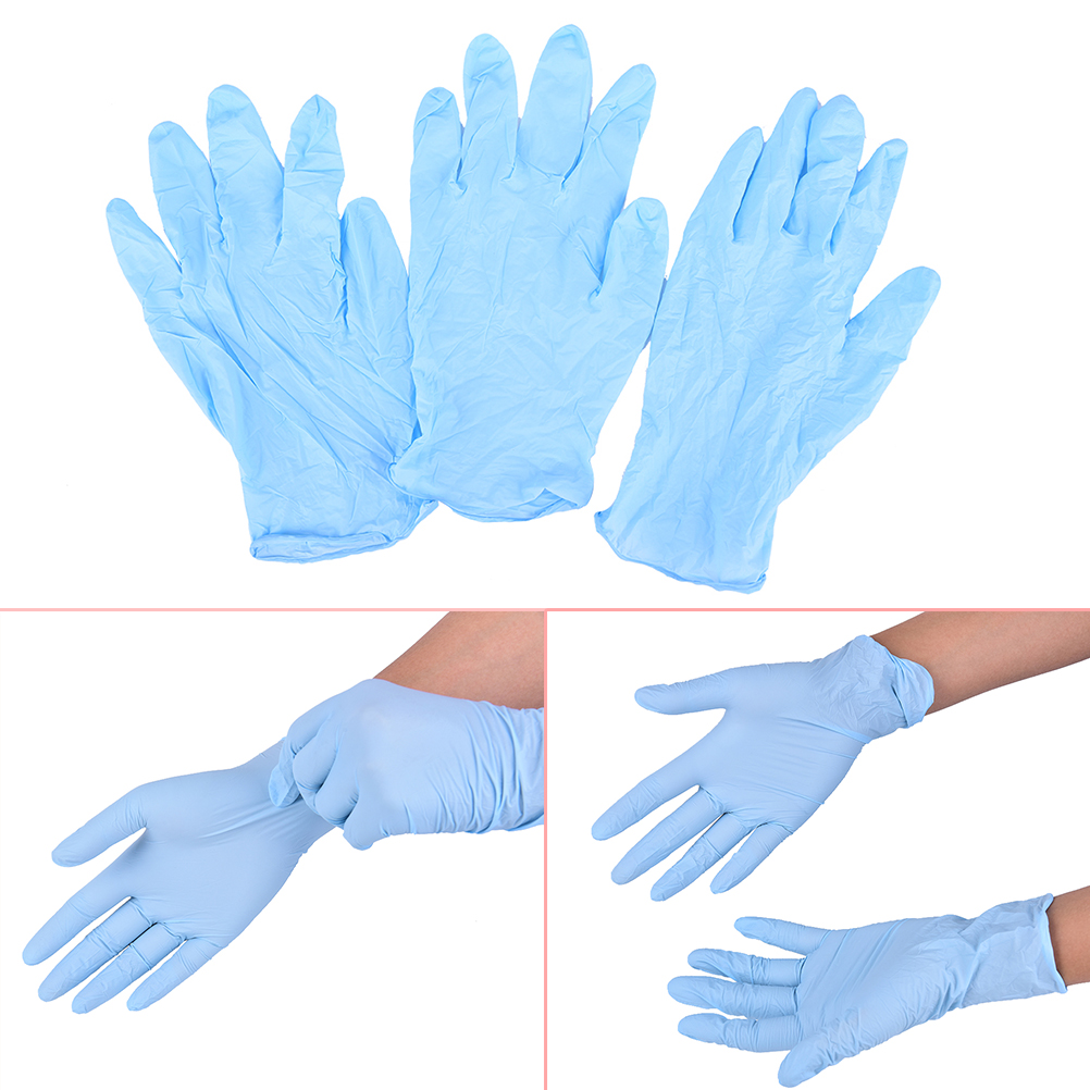 10pcs Disposable Blue Gloves Medical Tattoo Cleaning Supplies Household Tattoo Accessories Permanent Makesup