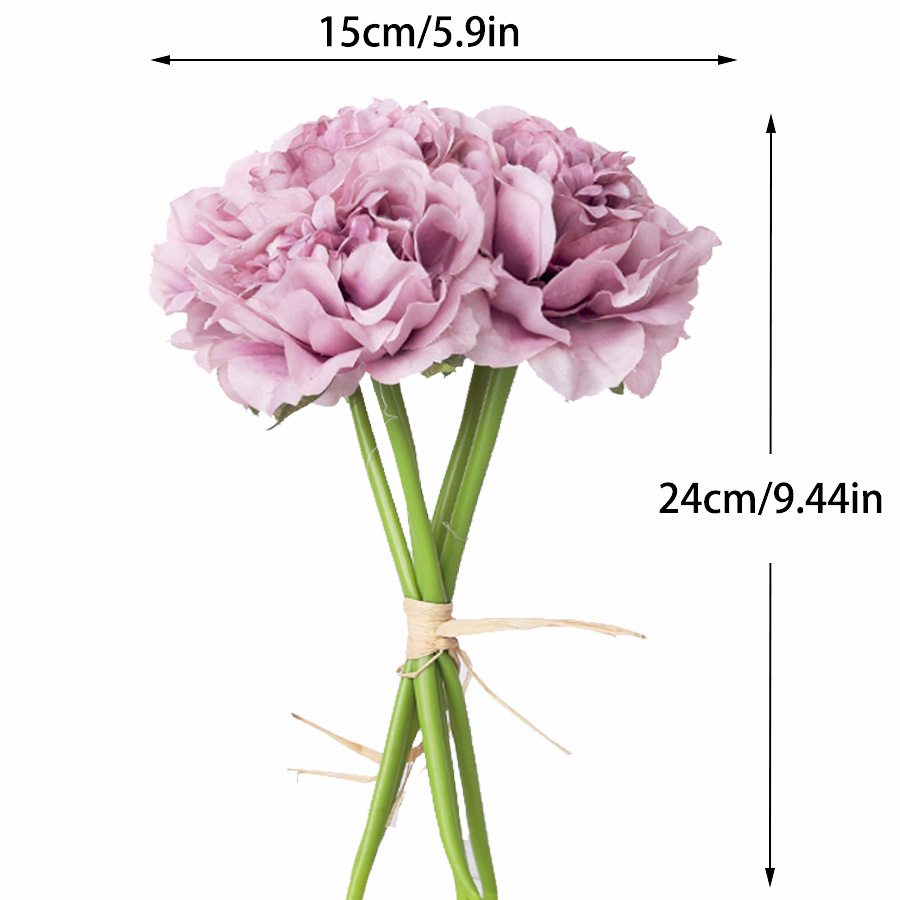 1 Bouquet 5 Heads High Quality Artificial Flower for Home/Wedding Party/Valentines day Decor 14