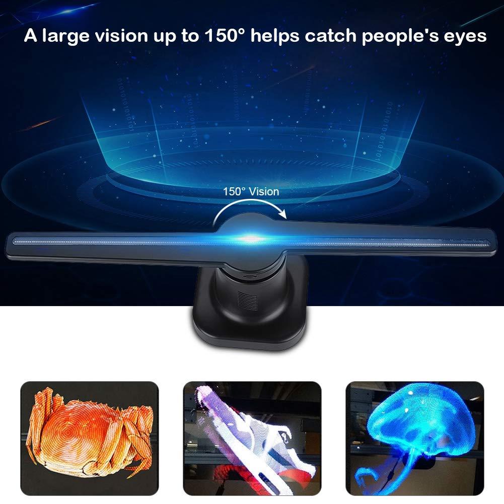 Hologramme 3D publicité ventilateur projecteur lumière magasin affichage holographique LED holograma wifi photos personnalisées vidéos 224 perle de lampe - 2