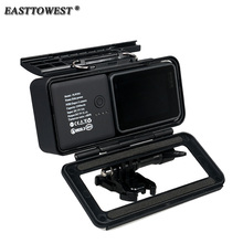 Easttowest For Gopro Hero 5 Protective Frame Mount Housing Case Shell with 2300mA Backup Battery Power Bank for Gopro hero 5