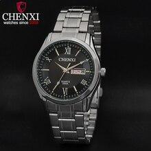 Chenxi marca de luxo relógios homens de aço inoxidável relógio do esporte da moda relógio de pulso masculino relógio de quartzo calendário função hombre reloje