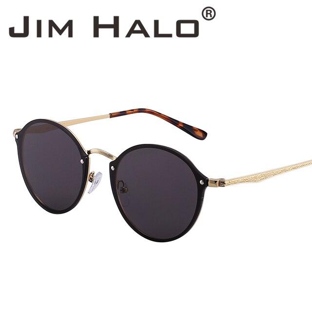 c94d33921a Jim Halo Wholesale 10pcs lot Rimless Round Mirror Lightweight Sunglasses  Women Men Retro Fashion Sun Glasses Vintage UV400 Gafas
