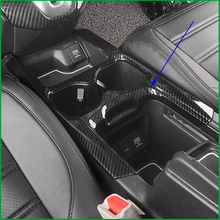 Carro-styling Interior ABS Impressão De Fibra De Carbono Stlyle Acessórios Suporte de Copo de Água Capa Guarnição Molding PARA Honda CRV CR-V 2017 2018