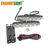 CNSUNNYLIGT LED Daytime Running Light Waterproof Universal DRL Kit Led Auto Driving Work Light External Fog
