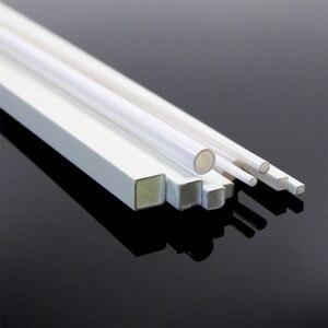 Image 4 - Tige en ABS en styrène rond, 48 pièces, tige en ABS carrée, Tube rond creux