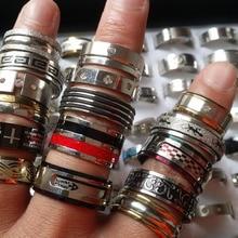 50pcs anelli in acciaio inox misto di stili delle donne degli uomini di top gioielli di moda lotto del commercio allingrosso di marca nuovo