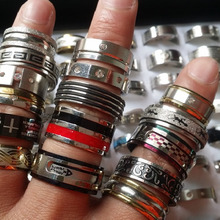 50pcs stainless steel rings mixed styles mens womens top fashion jewelry wholesale lot bulk brand new