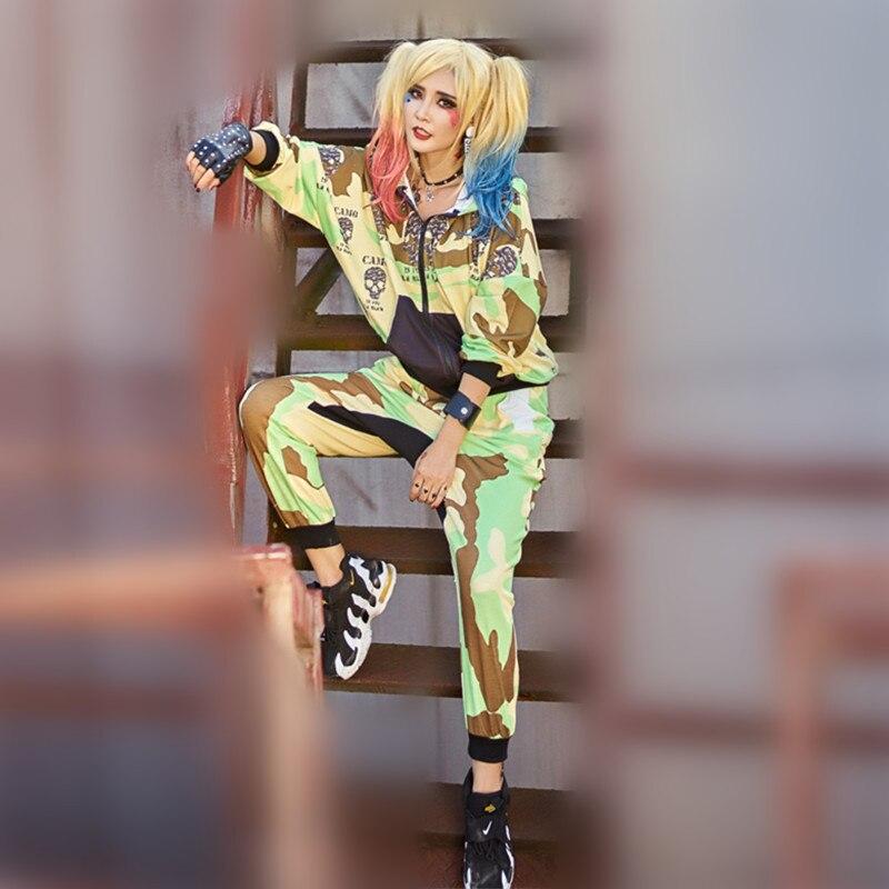 Solo ¡! nunca marca chándal mujer casual dos piezas conjuntos camuflaje con capucha cremallera abrigo militar pantalones hippie mujer smmer conjunto-in Conjuntos de mujer from Ropa de mujer on AliExpress - 11.11_Double 11_Singles' Day 1