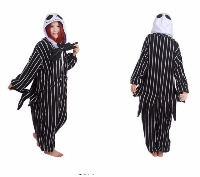 The Nightmare Before Christmas Jack Skellington Kigurumi Costumes Onesie  Pajamas 9a4c6f30ac9fa