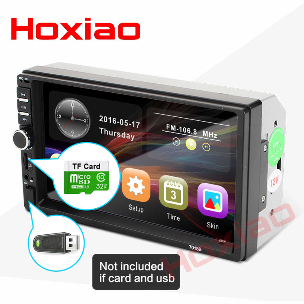 "Hoxiao 2 din auto radio 7 ""HD Speler MP5 Touch Screen Digitale Display Bluetooth Multimedia USB 2din Autoradio Auto backup Monitor"
