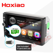 "Hoxiao 2 din coche radio 7 ""HD jugador MP5 Digital de pantalla táctil Bluetooth Multimedia USB 2din Autoradio coche de Monitor(China)"
