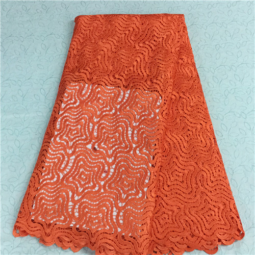 Unbelievable african cord lace fabric water soluble lace high quality african guipure lace with wedding dreses HR4-81