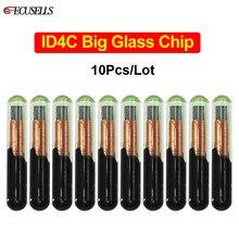 Chip de cristal grande ID4C para coche, Chip de llave de coche, identificación 4C, para Ford, Toyota, Mazda, 10 unids/lote