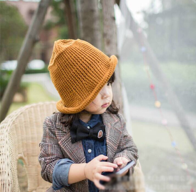 Casual Baby Hat and Scarf Crochet Child Hat Warm Letter Knitted Kids Hats Solid Wool Winter Baby Caps