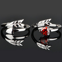Fashion Arrow Heart Couple Lover S Promise Ring Engagement Wedding Party Band Ring