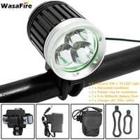 WasaFire 3*XML T6 LED HeadLight 4000lm 3 Modes Mountain Bike Light Bicycle Lamp HeadLamp Front Lights Riding Cycling Sport Gift