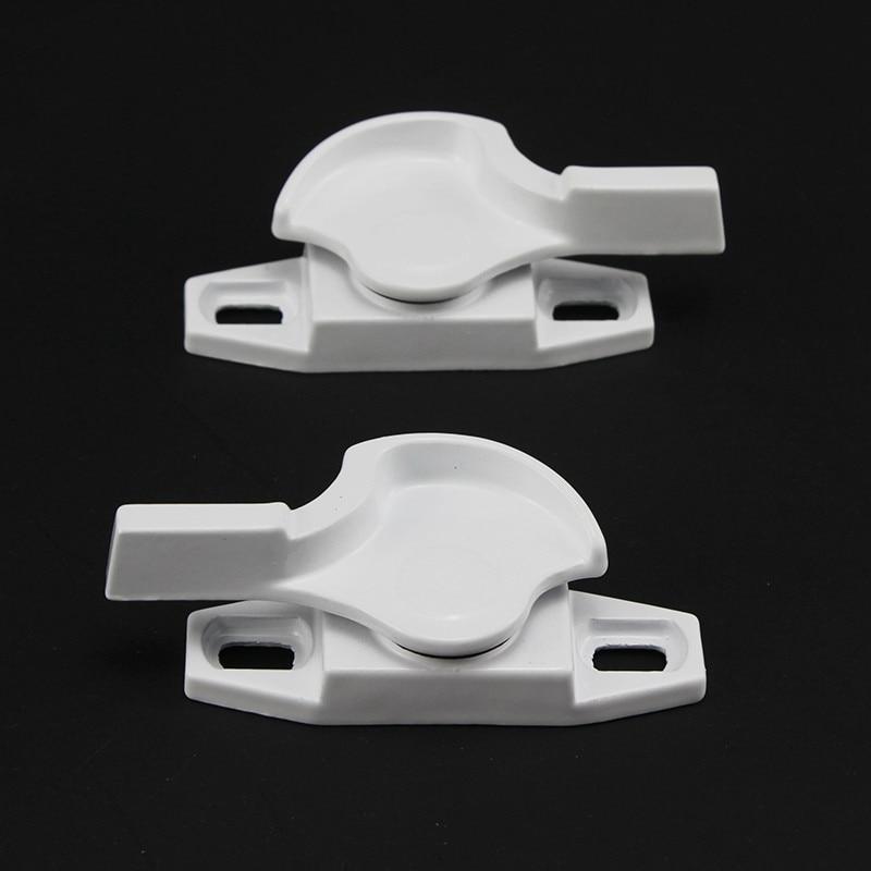 1 Set = 2 Stücke! Universal Zink-legierung Fenster Verriegelungen Sicher Fenster Stopper Lock Für Doppel Verglasung Verriegelungen Tür Griff Hardware