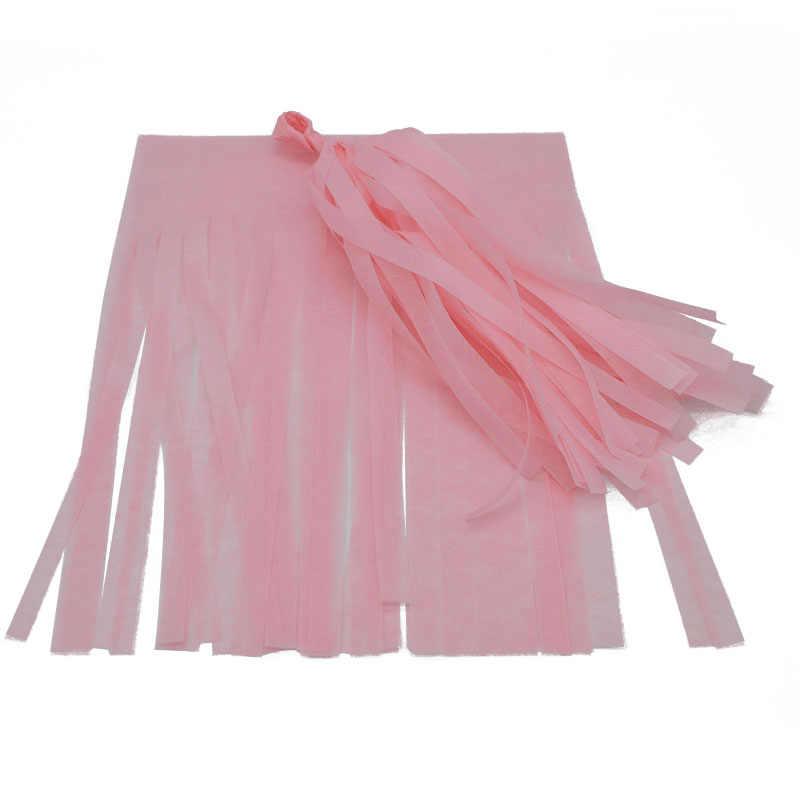 5 pcs 14 polegada Papel Tissue Borlas Garland para o Casamento Decoração DIY Fontes Do Partido Do Evento da Festa de Aniversário Do Chuveiro de Bebê