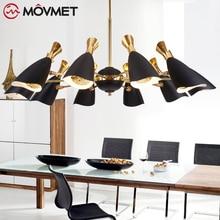 Modern DIY Rotatable Led Pendant Chandelier Light Gold Metal Dining Room Led Chandeliers Lighting Living Room Led Hanging Lights