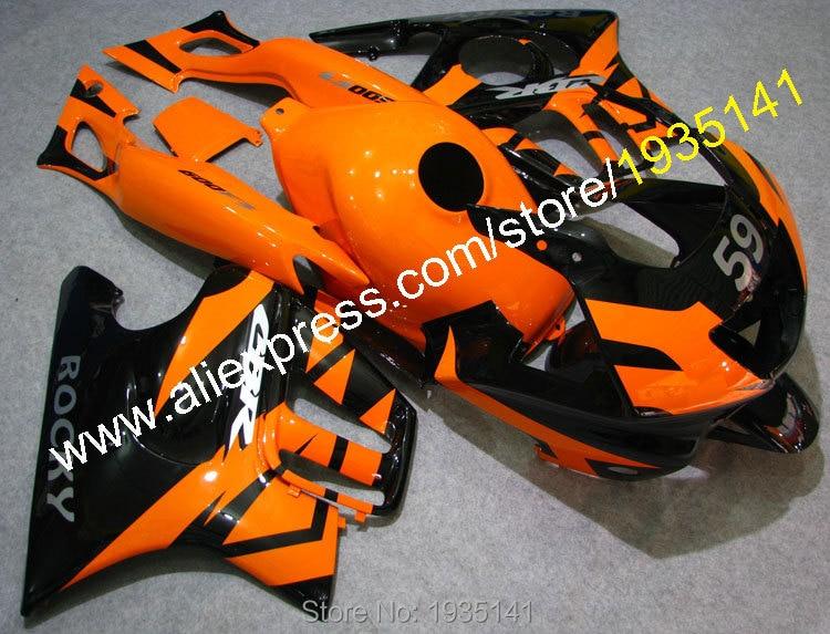 Hot Sales,For Honda CBR600 F3 97 98 Body Kit CBR 600 F3 1997 1998 CBR600F3 Orange Black Motorcycle Fairing (Injection molding)