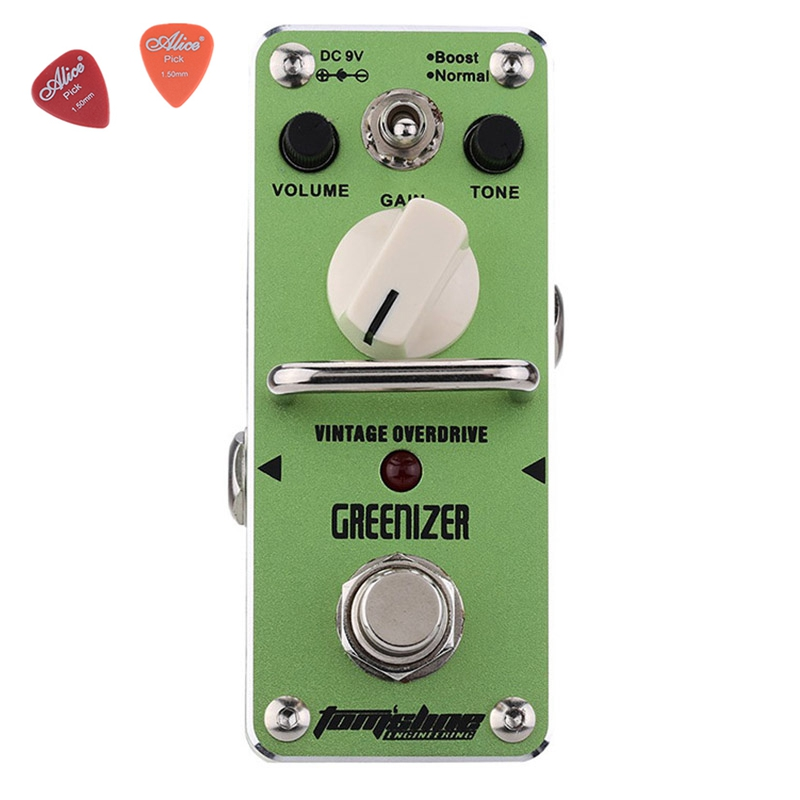 AGR-3 GREENIZER Vintage Overdrive Guitar Effect Pedal Aroma Mini Analogue Guitar Accessories With True Bypass Footswitch aroma aby 3 bluesy vintage overdrive for blues mini analogue effect true bypass guitar effect pedal