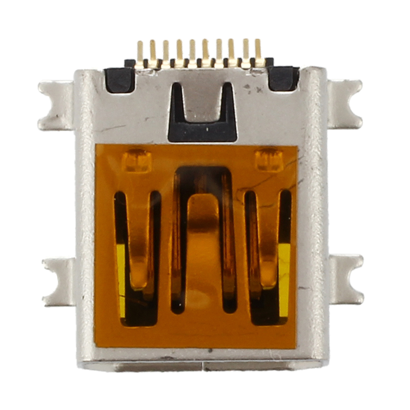 <font><b>10</b></font> Pcs Female Mini <font><b>USB</b></font> <font><b>Type</b></font> <font><b>B</b></font> <font><b>10</b></font> Pin SMT SMD Mount Jack Connector Port used widely for phone accessory, PCB Socket. Product image