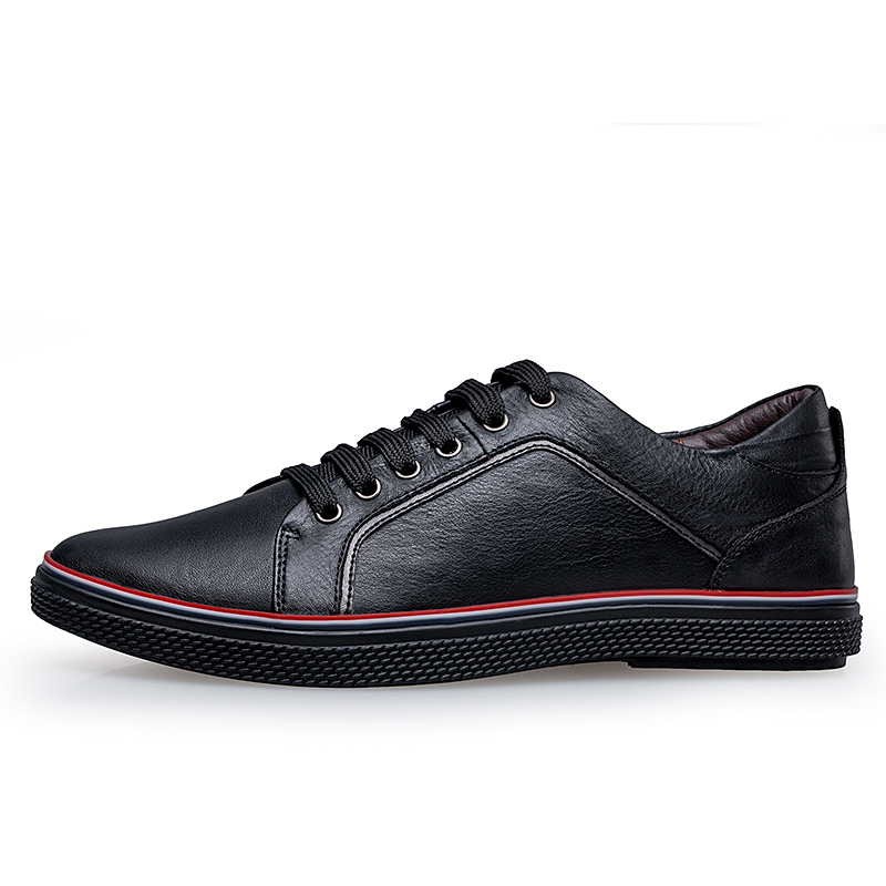 High Quality Genuine Leather Men Shoes Black Spring Men Casual Shoes Male Shoes Real Leather Big Size Shoes 37-46 D50
