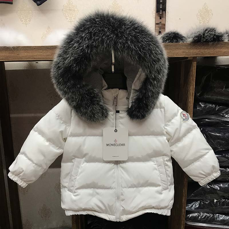 New Fashion Children Down Coats Large Collar Hooded Duck Down Outerwear Enfant Kids Solid Warm Jacket Girls Boys Winter Clothes