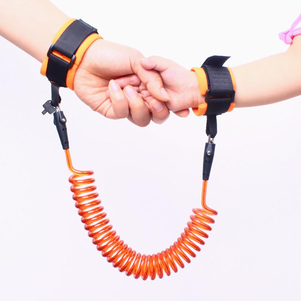 1.5/2/2.5M Adjustable Kids Safety Walking Harness Wrist Link Kids Security Bracelet Children Wrist Leash Anti-lost Belt Band
