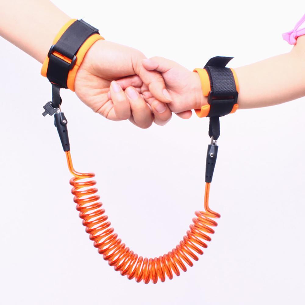 1.5/2/2.5M Adjustable Kids Safety Walking Harness Wrist Link Kids Security Bracelet Children Wrist Leash Anti-lost Belt Band
