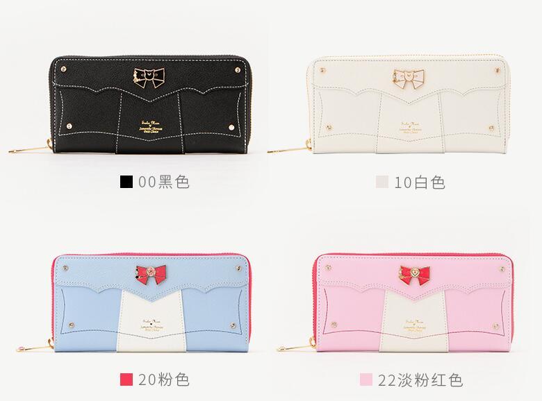 Bagaj ve Çantalar'ten Cüzdanlar'de DHL 10 adet Samantha Vega Sailor Moon Bayanlar Uzun Fermuar Kadın Çantası Kadın marka Deri kawaii cüzdan portefeuille'da  Grup 1