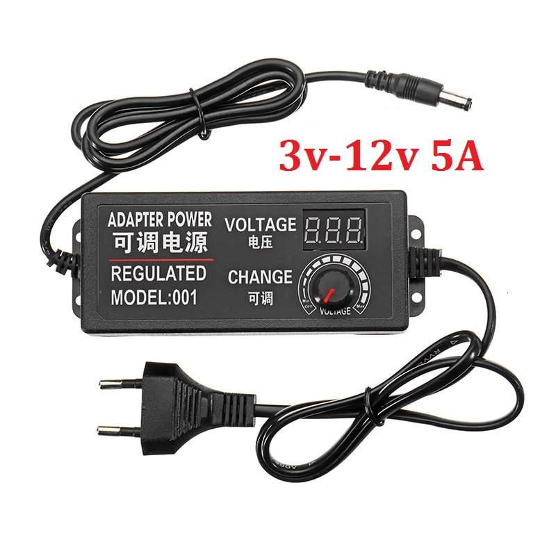Adjustable AC To DC 3V-12V Universal Adapter with Display Screen Voltage Regulated Power Supply Adatpor 3 12 VAdjustable AC To DC 3V-12V Universal Adapter with Display Screen Voltage Regulated Power Supply Adatpor 3 12 V