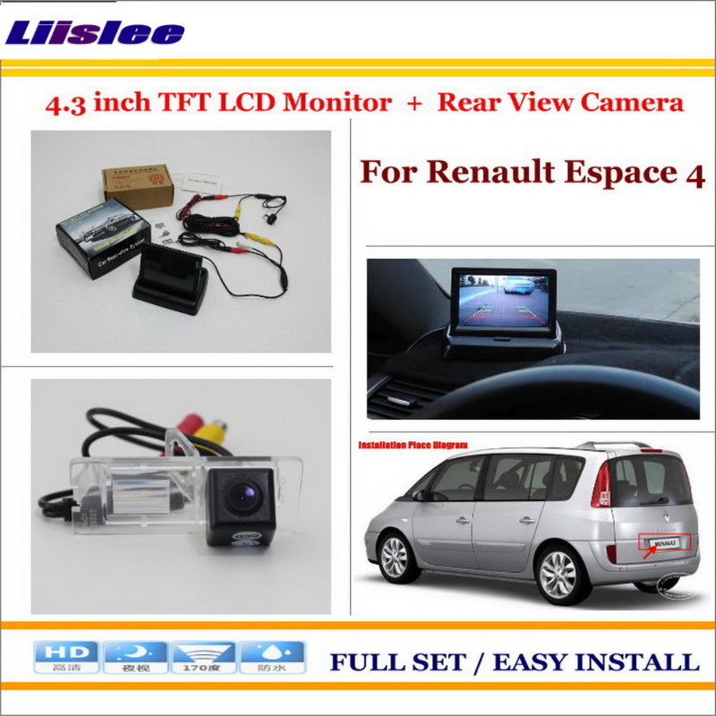 Liislee For Renault Espace 4 Car Rear Camera + 4.3