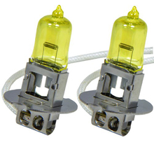 2 x H3 PK22S 12V 3000K 55W Golden Yellow Auto Car HOD Halogen Bulbs Xenon Lamps Ultra Upgrade Headlight Bulbs
