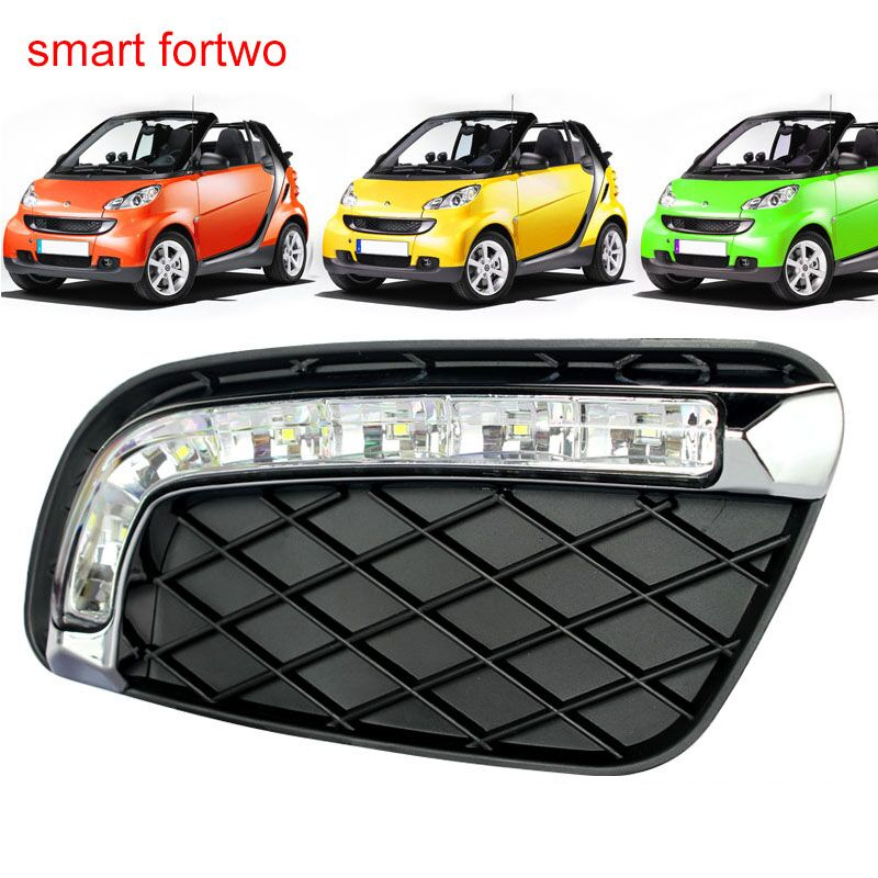 luckeasy drl for mercedes benz smart fortwo 2008 to 2011 Front Lamps day light led car for smart fortwo auto fuel filter 163 477 0201 163 477 0701 for mercedes benz