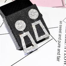Женские серьги подвески ajojewel с геометрическим рисунком полностью