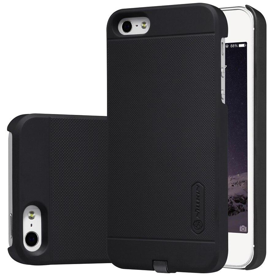 imágenes para Caso de Nillkin Para el iphone 5S Para iPhone SÍ Transmisor Cargador Inalámbrico qi Receptor caja de Carga de Energía 4.0 pulgadas