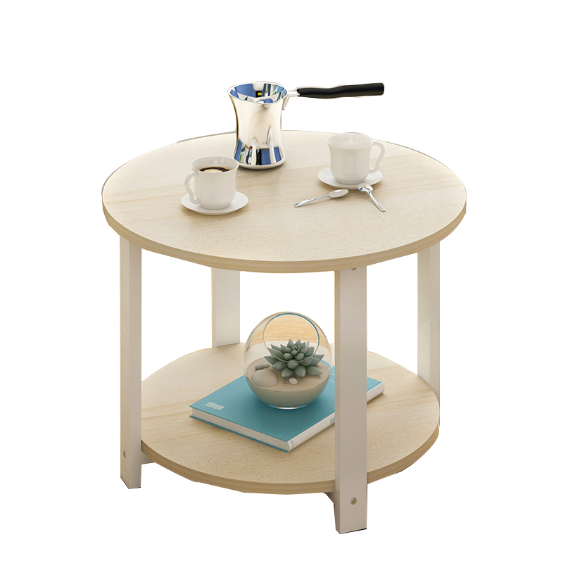 Home Wooden Coffee Table Simple Modern Round Tea Table Small Size
