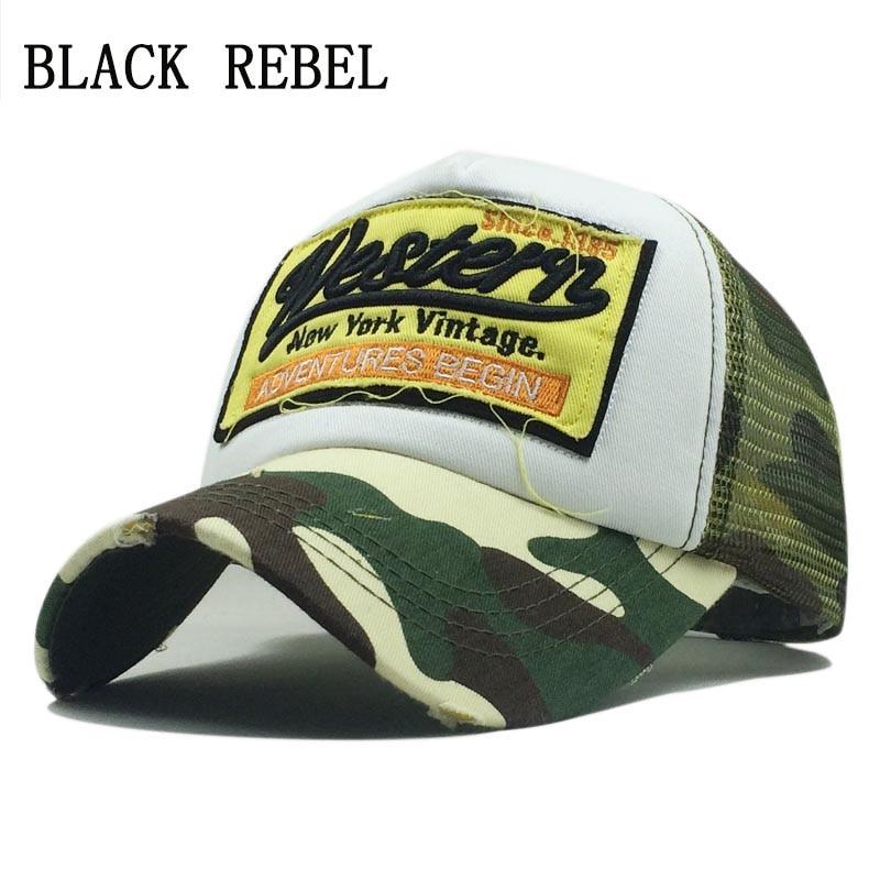 Black Rebel Summer Baseball Cap Embroidery Mesh Cap Hats For Men Women Gorras Hombre hats Casual Hip Hop Caps Dad Casquette