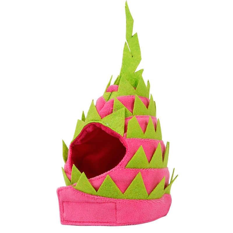 1 шт cat щенок фрукты платье шапка дракон фрукты Форма Pet Головные уборы одежда для вечеринки аксессуары головной убор регулируемый крючок и петля