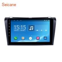 Seicane Bluetooth gps Навигации 2din 9 Android 6,0 автомагнитолы с для 2004 2009 Mazda 3 Поддержка 3g WI FI USB резервную камеру DVR